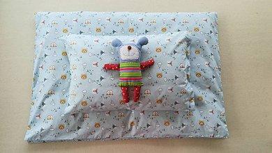 Textil - VLNIENKA Detské obliečky do postieľky na mieru  100% bavlna MINT blue FR MACKO - 11178654_