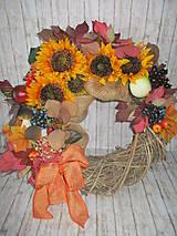 Dekorácie - Jesenný veniec - 11177434_