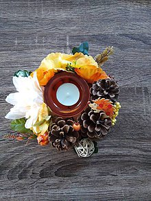 Dekorácie - Jesenná ikebana - 11178855_