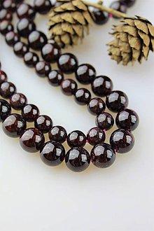Minerály - Granát 8 mm korálky kvalita AA - 11181088_