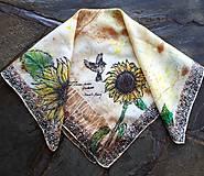 Šatky - Esencie jesene-hodvábna maľovaná šatka - 11179727_
