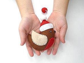 Dekorácie - Rozprávkové Vianoce (Vtáčik) - 11178558_