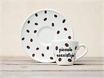Nádoby - Ristretto šálka s podšálkou na kávu (50 ml) - Piccolo neexistuje! - 11179600_