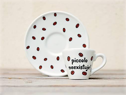 Ristretto šálka s podšálkou na kávu (50 ml) - Piccolo neexistuje!