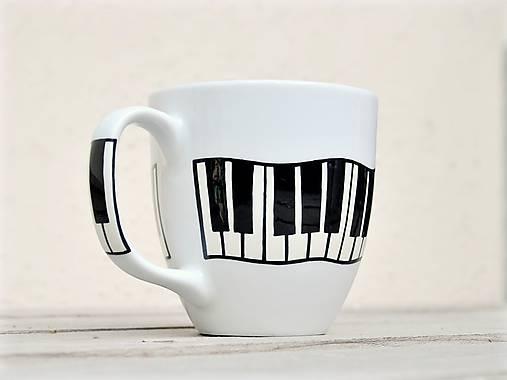 Porcelánový hrnček - Piano/Klavír