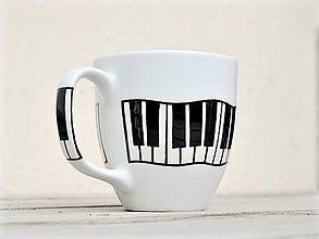 Nádoby - Porcelánový hrnček - Piano/Klavír - 11179946_