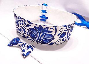 Opasky - BLUE FOLK ORNAMENT - dámsky folk opasok - 11180185_