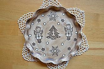 Dekorácie - Vánoční talíř/svícen ANDĚLSKÝ V. - 11180550_