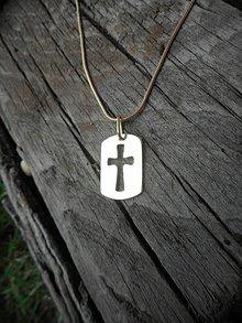 Iné šperky - Platnička cross - 11177659_