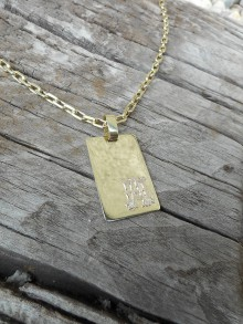 Iné šperky - Platnička s monogramom - 11177889_