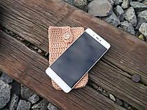 Na mobil - Háčkované púzdro na mobil (bukvica) - 11180240_