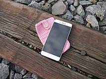 Na mobil - Háčkované púzdro na mobil (kvet čerešne) - 11180281_