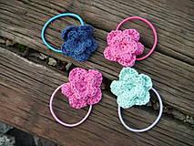 Ozdoby do vlasov - Gumička (jarné kvety) - 11180565_
