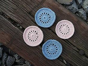 Úžitkový textil - Háčkované odličovacie tampóny (4ks v balení) (Čierno-biela) - 11180452_