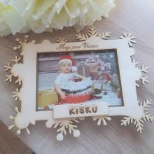 Rámiky - Vianočný fotorámček s menom dieťatka - 11181259_