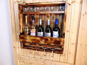 Nábytok - Polička na víno - 11179423_
