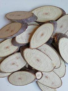 Materiál ručne robený - Plátky z vianočného stromčeka 2 - oválne (veľkosť 1) - 11178552_