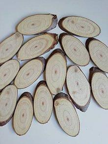 Materiál ručne robený - Plátky z vianočného stromčeka 2 - oválne (veľkosť 2) - 11178625_