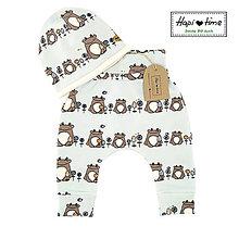 Detské oblečenie - Modré bio baby nohavice - 11179348_