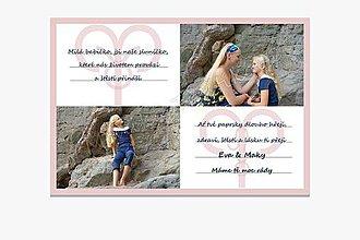 Dekorácie - Foto Přání pro babičku A4 - Souznění - 11178527_