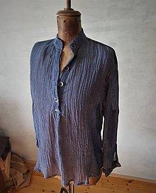 Košele - ľanová košeľa - 11180145_