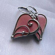 Náušnice - Srdiečka z lásky - ružové - 11179746_