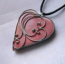 Náhrdelníky - Srdiečko z lásky - ružové - 11179757_
