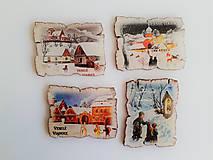 Drobnosti - Krásne magnetky s vianočným motívom - 11181074_