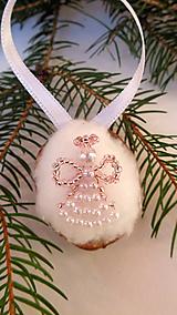 Dekorácie - Vianočné oriešky-anjel - 11180498_