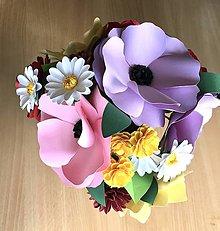 Dekorácie - Letne potesenie - kytica z papierovych kvetov - 11178544_