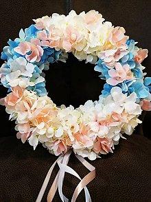 Dekorácie - Venček celoročný kvetový - 11181361_