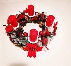 Dekorácie - Venček červený vianočný - 11181385_