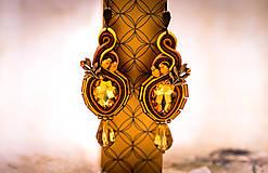Náušnice - Éire soutache earrings - 11177506_