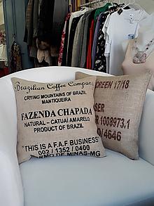 Úžitkový textil - Vankúšová obliečka z vreca na kávu - 11179183_