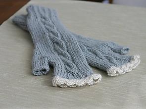 Rukavice - bezprstové rukavičky - 11180288_