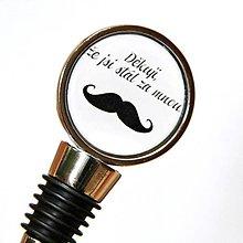 Darčeky pre svadobčanov - zátka Mustache - text na želanie - 11177515_
