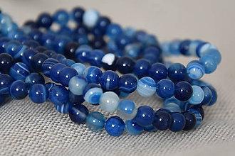 Minerály - Onyx modrý 6mm, 0.09€/ks - 11179019_