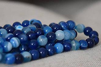 Minerály - Onyx modrý 8mm, 0,16€/ks - 11179069_
