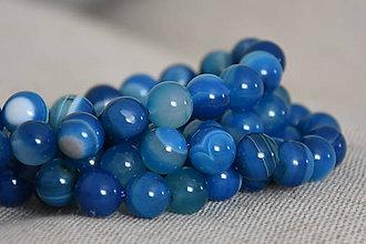 Minerály - Onyx modrý 10mm, 0.23€/ks - 11179081_