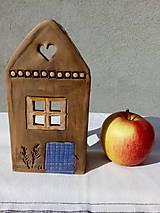 Dekorácie - Keramický domček na sviečku - 11179964_
