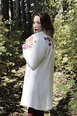 Kabáty - Ručne maľovaný kabát - 11177707_