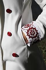 Kabáty - Ručne maľovaný kabát - 11177712_