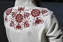 Kabáty - Ručne maľovaný kabát - 11177714_