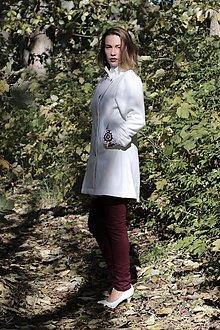 Kabáty - Ručne maľovaný kabát - 11177710_