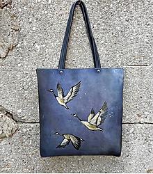"""Kabelky - VERA """"Uplift"""" kožená kabelka s maľbou - 11181081_"""