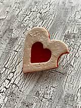 Odznaky/Brošne - linecke srdce - brosna nakusnuta - 11179818_