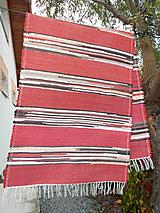 Úžitkový textil - červený koberec s hnedým melírom - 11182696_