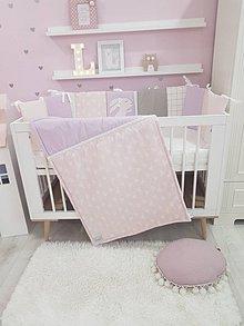 Textil - Jemná kolekcia Violet Bunny /mantinel,deka/ - 11185154_