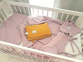 Textil - Mušelínové obliečky jednofarebné 40x60/135x100cm - 11185308_