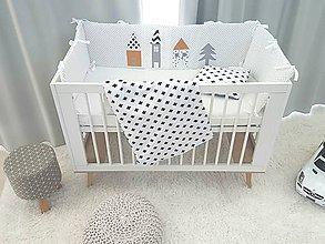 Textil - Mantinel 240x30cm horčicové domčeky - 11185354_